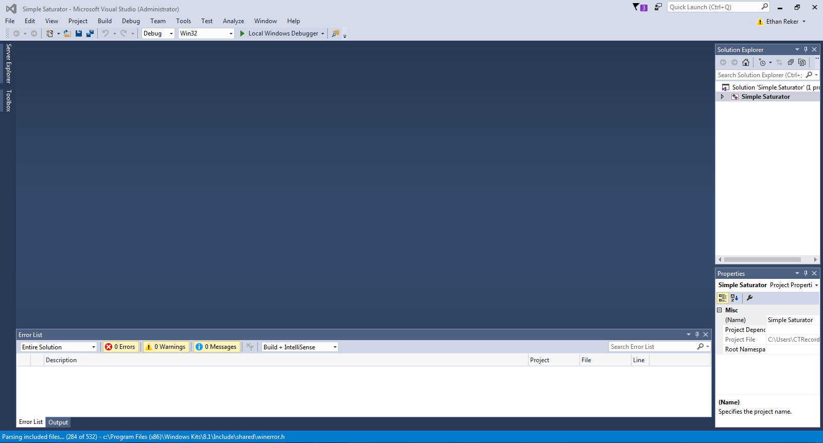 Visual Studio - New Project
